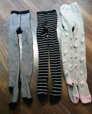 3 Pairs Of Girls Tights From Next Age 7-8 Years