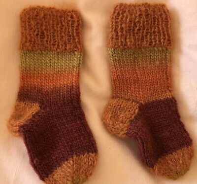 New Childrens Kids Ankle Wool Hand Knitted Seamless Stripes Stretch Socks 13 Cm