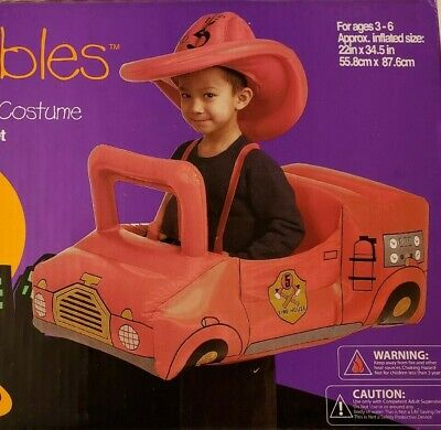 INFLATABLE FIRE TRUCK SET FUN PLAY HALLOWEEN WAIRABLES AGE 3 - 6  Yrs NEW SEALED