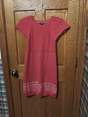 Old Navy girls bright red**  sweater dress size XL  Christmas dress!!!