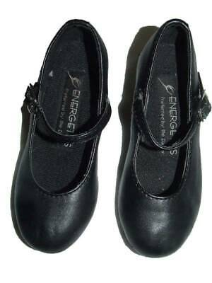 ENERGETIKS CHILDRENS BLACK LEATHER TAP DANCE SHOES SIZE 8.5  Excellent