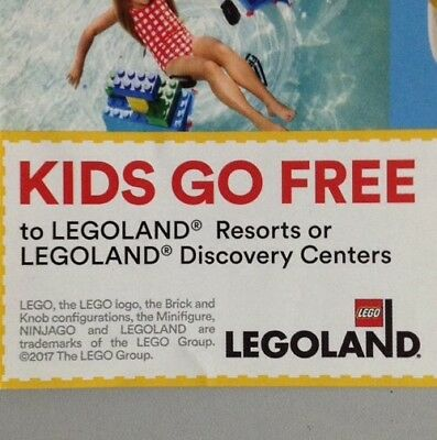 Free Child LEGO LAND Resorts or Centers Ticket with purchase of an Adult Ticket.