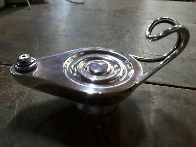 Vintage Austrian 800 Silver Genie Lamp Table Lighter.