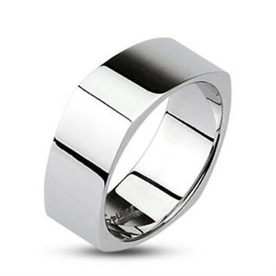 Men's Women's Stainless Steel Mirror Ring Classic Stylish Polished High Gloss