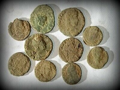 @LOT OF 20  NICE ANCIENT ROMAN CULL COINS UNCLEANED /& EXTRA COINS ADDED...
