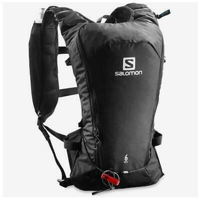 New Salomon Agile 6 Set Hydration Pack Drinking Water Container Packs Black 6L