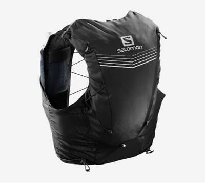 New Salomon Advanced Skin 12 Running Set Hiking Water Hydration Vest Black XS