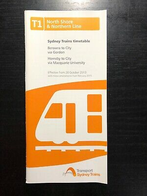 Sydney Trains T1 North Shore & Northern Line 2013 Timetable