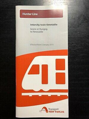 NSW Trainlink Hunter Line 2013 Timetable GOOD CONDITION