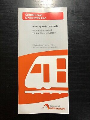NSW Trainlink Central Coast & Newcastle Line 2015 Timetable GOOD CONDITION