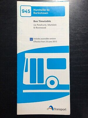 Punchbowl Bus Co. 945 Bus Route 2015 Timetable GOOD CONDITION
