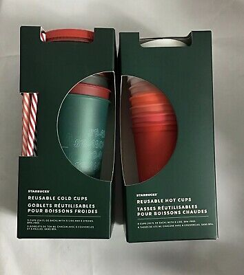 starbucks reusable cup set Hot And Cold With Cups And Straws 2019 HOLIDAY BUNDLE
