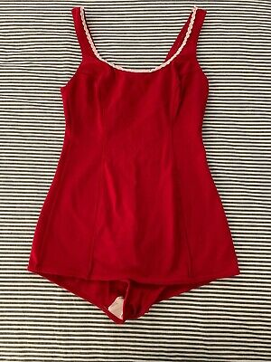 Red Vintage 1950s Swimsuit