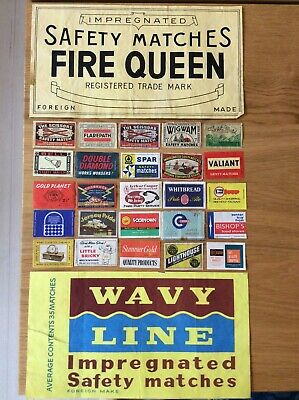 Vintage Matchbox Labels (a) - Foreign Made, Various Designs, (S)
