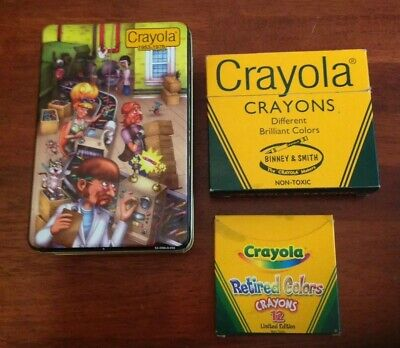 Crayola Crayons Binney & Smith 64 Pack + Limited Edition Pack + Tin