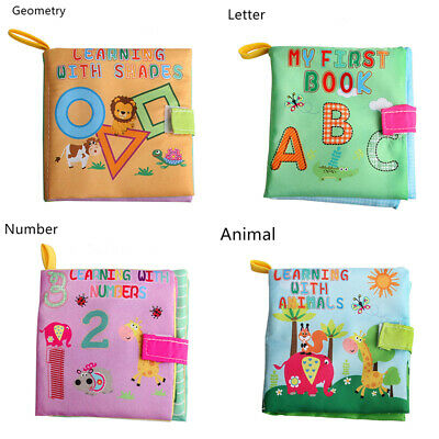 Kid Intelligence development Cloth Bed Cognize Book Educational Toy For Baby US