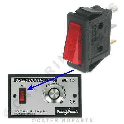 Red Rocker On Off Main Power Switch For Flakt Woods Fan Speed Controller 16 Amp