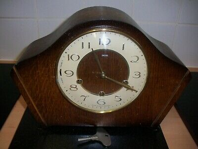 Smith westminster chiming mantel clock 8 day key wind