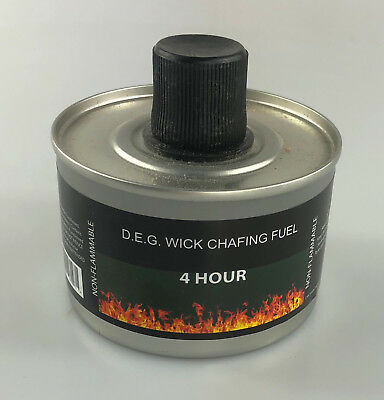 Chafing Dish Liquid Fuel Re-usable High Quality - 4 HOUR BURN TIME.Choose Amount