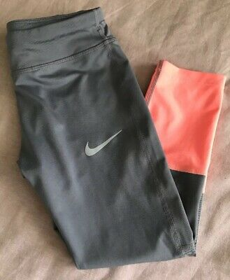 Girls Nike  Dri-fit Leggings Pants Size Medium Sports Fitness