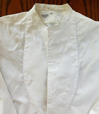 Tunic shirt Webster Bros mens formal dress collarless size 15 vintage Art Deco