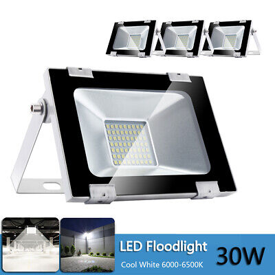 10X LED floodlight Cool white Wall Security Outdoor Garden Waterproof IP65 Lamp