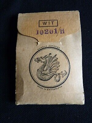 Job lot of antique pocket watch hands in little card folder – New old stock