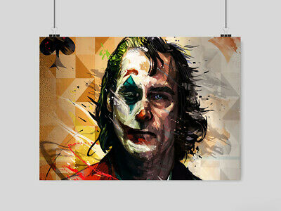 Joker Movie Poster Print 2019 Film Movie Image Wall Art- A4 A3 Size
