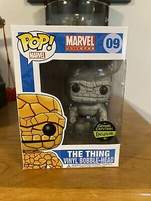 Funko Pop! Marvel - THE THING BLACK & WHITE Gemini EXCLUSIVE #09 *DAMAGED*