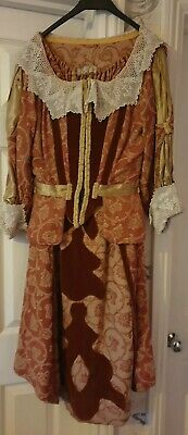 Ladies Vintage Red Victorian Style 2 Piece Set , Size 10/12