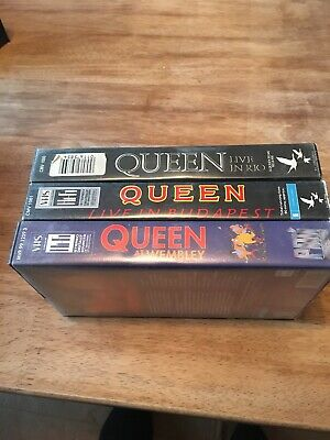 Queen 'Live In Rio, Live In Budapest, Live At Wembley' Bundle -VHS