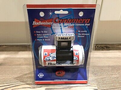 Advertising Vintage Budweiser Film Camera * New / Unused Condition * Collectable