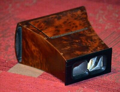 Antique Brewster Wooden Stereoscope Stereo Viewer