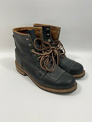 RED WING HERITAGE 2995 Lineman Boots Black Retan Leather