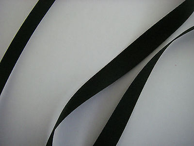 5 metres JET BLACK  Double Sided Satin Ribbon SHINDO 10mm 3/8  INCH 5 MTR New