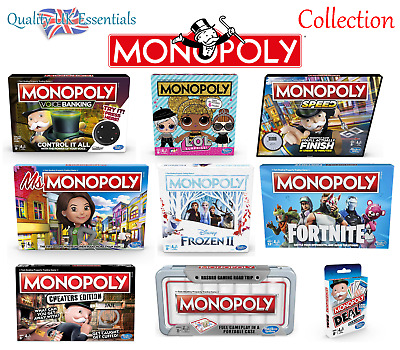 Monopoly Board Game - Including Special Editions - New Hasbro Range 2019