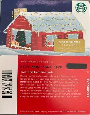 "2019 Starbucks Christmas ""House!"" Gift Card #6171 No Value Mint"