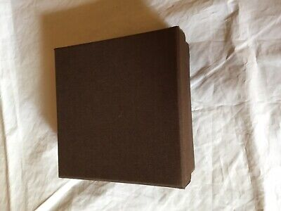 Brown Small Gift Presentation Jewellery Box Unlined New