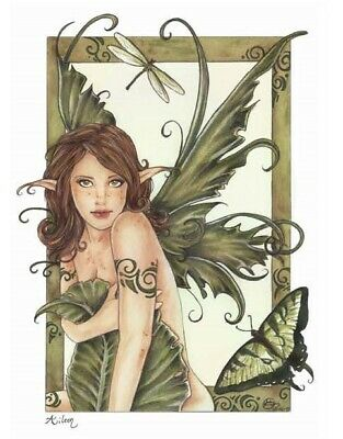 Green Leaf Elf Fairy cross stitch chart