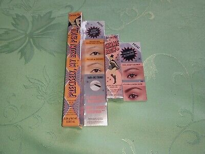 BENEFIT EYEBROW PENCIL AND VOLUMiSING EYEBROW GEL - BLACK AND BROWN MINIS