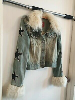 Kiss Paul Stanley Style Denim Fur Jacket by Junk