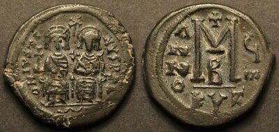Byzantine, Justin II and Sophia AE Follis