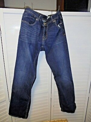 BKE Carter Straight Jeans 36R Buckle  Blue Wash Buckle sz 36x31