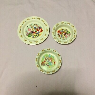 Bunnykins Plate And Bowls