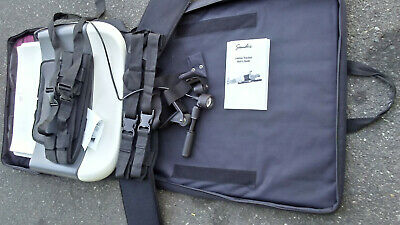 Saunders Lumbar Home Traction Device With Carry Bag Black For Parts or Repair