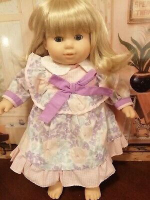 American Girl Bitty Twins Bitty Baby Dress Pink Floral Handmade Pink Gingham