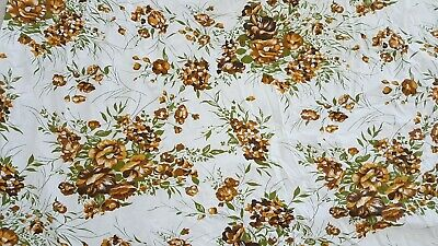 Vintage Sheet, Double Bed, Floral, retro, white, great condition