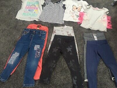 Girls 2-4 years Clothes Bundle Trousers Leggings Tops Zara Next H&M George