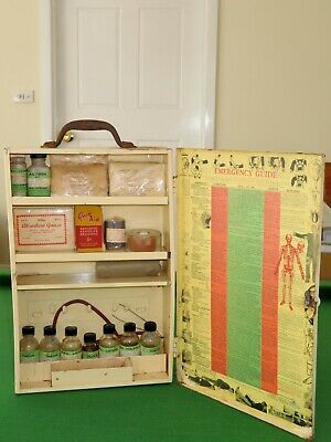 1940's Dayspring first aid cabinet with original items