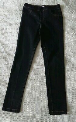 Girl's Bluezoo Stretch Black Jeggings Age 9 - Good Condition